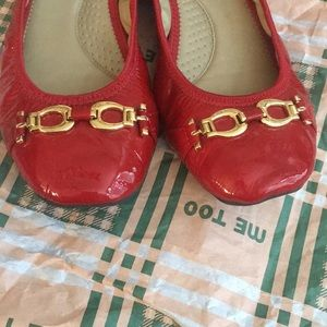 me too Shoes - New in box, red patent leather flats. By Me Too